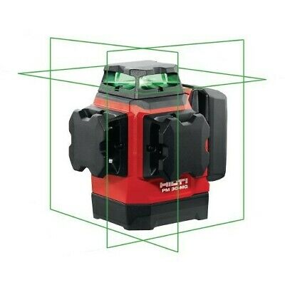 Hilti PM 30-MG Multi-line laser with 3 green 360° lines for plumbing, leveling