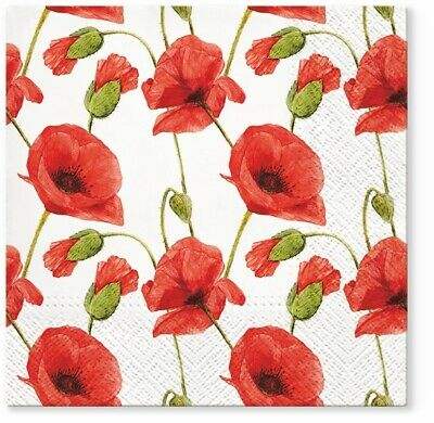 Lunch for Decoupage Party 4 x Single Vintage Table Paper Napkins Tulipani