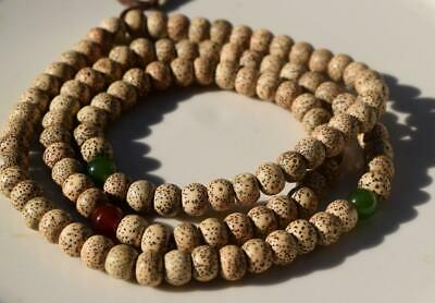 Chinese White Buddhist Prayer 108 Mala Rudraksh Necklace