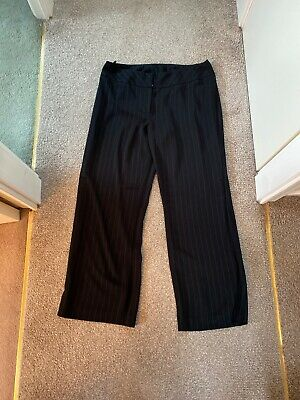 Dorothy Perkins Size 16 Pinstripe Black Suit Trousers VGC Work Clothes
