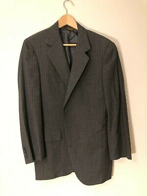 Southwick X Paul Stuart Gray Mens Pinstripe 2pc Suit 38R