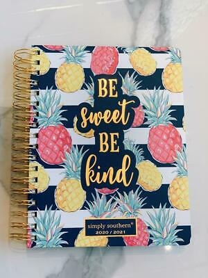 New Simply Southern Be Sweet Be Kind Pineapple 2020 2021 Desk Planner