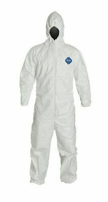 DuPont TYVEK Classic 600Plus Coverall Bunny Suit, Spraysuit, Large