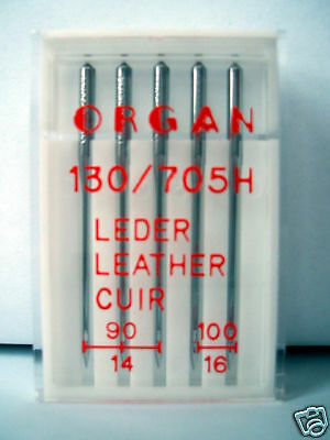Organ Sewing Machine Needles Domestic Leather Mix Pack Fits Janome, Brother