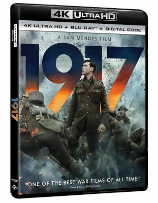 1917 4K + Bluray (No Digital) with Sleeves Cover Brand New Untouched Disc