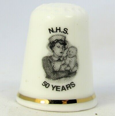 Collectable Fine Bone China Thimble 'Nhs 50 Years 1948-1998' The Thimble Guild