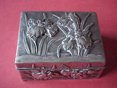 Antique Chinese Profusely Decorated Silver Box