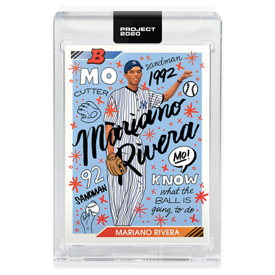Topps PROJECT 2020 Card #8 - 1992 Mariano Rivera by Sophia Chang Pre-Sell