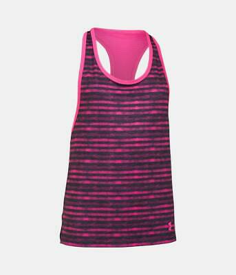 Under Armour UA Girl's HeatGear Armour Loose Tank Top - Pink - New