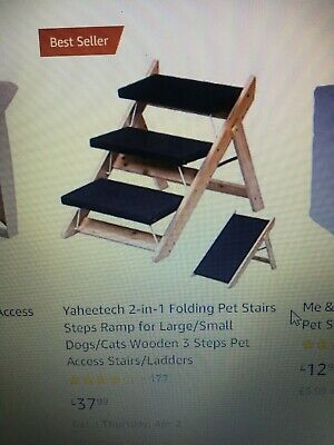 2 -1 folding pet stairs/ramp for large dogs/cats for car brand new in box didnt