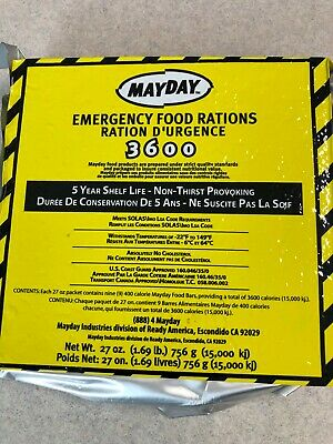 9 Meals 3 Day 3600 Calorie Emergency Survival Food Bar Ration Car Kit or Home