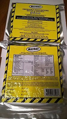 MAYDAY 2 Pack 3600 Calorie Food Bar - 18 Meals 6 Day Emergency Survival Bars.