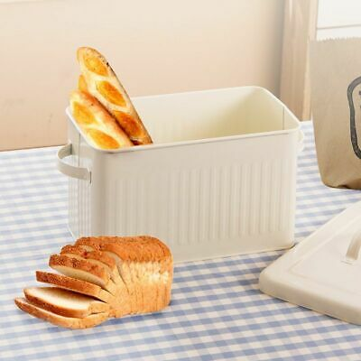 8l Metal Bread Box With Lid Dust-proof Case Retro Storage Bin Kitchen Container
