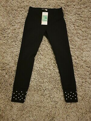 Girls Black Leggings Age 8 NEW WITH TAGS