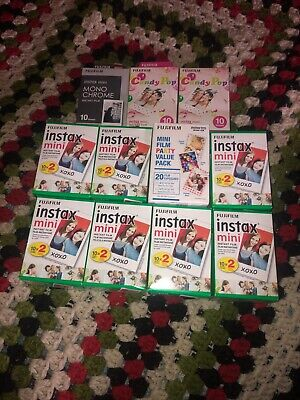 fujifilm instax mini film Lot Of 19 Packs Of Film, 190 Photos In Total