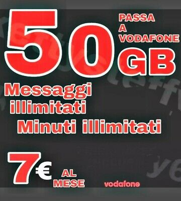 Coupon Passa A Vodafone Special Unlimited-50Gb/7€ -Con Corriere Gratuito