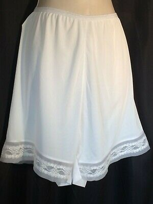 Vintage Pettipants bloomers XL 9 tap Panties nylon White pinup Lace 60's petty