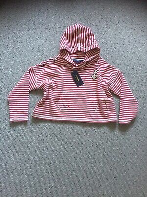 Polo Ralph Lauren Girls Hooded Summer Sweat Top - Age 6 - red/white Stripe -BNWT
