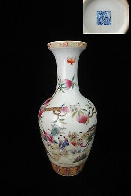 "Rare Large Chinese Antique Hand Painting Porcelain Vase ""QianLong"" Marks"