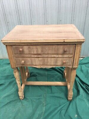 Vintage Timber  Sewing Machine Table Suit Craft Work/Sewing