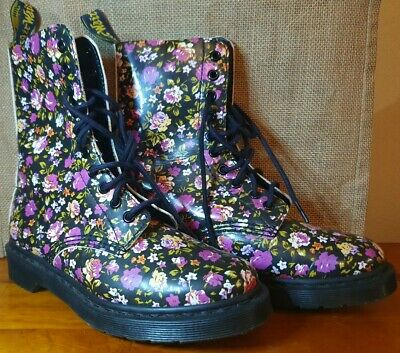 Preloved Dr Martens Simone Floral Boots