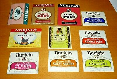 Collectable wine labels -  Set of 10 Nurivin imperial wine labels MINT