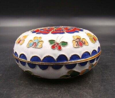 80mm Collectible Handmade Copper Brass Cloisonne Enamel Makeup Boxes