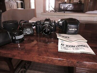 Minolta x 7000 in new condition bought in 1983 comes with zoom lenses and flash