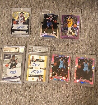 2019-20 Prizm Basketball Ja Morant Pink Ice & Zion Williamson, & Lot Read Detail