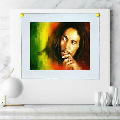 """8""""x10"""" Bob Marley Painting HD Prints on Canvas Home decor Room Wall art Posters"""