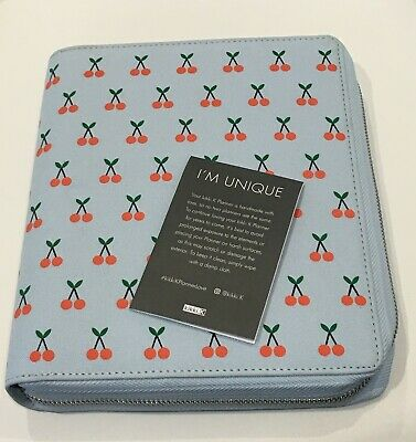 KIKKI K Large 2019 Time Planner with Zip Cherry Cute Blue BRAND NEW RRP $75