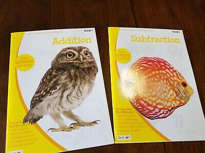 Lot of 2 small workbooks addition subtraction 1st grade NEW
