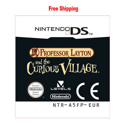 For Nintendo 3DS NDS Lite NDSI NDSXL Professor Layton and the Curious Village