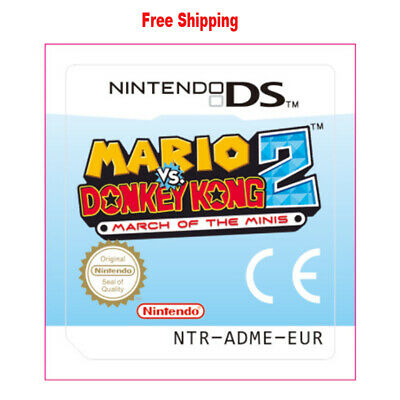 For Nintendo 3DS NDS Lite NDSI NDSXL Mario vs. Donkey Kong 2 March of the Minis