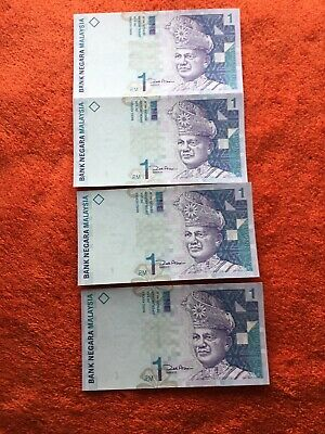 World Bank Notes Malaysia 1RM  X4  Unc,