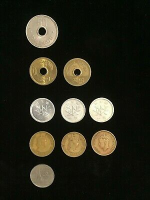 Lot of coins from Asian Nations