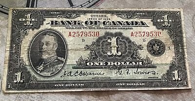 Canada Ottawa 1935 One Dollar Note Ge V