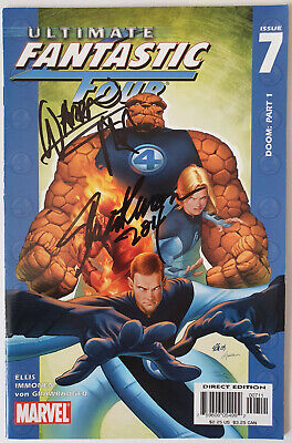 FANTASTIC FOUR Comic Marvel Signed By WARREN ELLIS & STUART IMMOMEN COA
