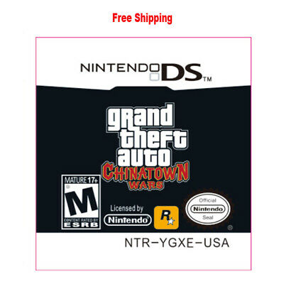 For Nintendo 3DS NDS Lite NDSI NDSXL NDSLL Grand Theft Auto Chinatown Wars