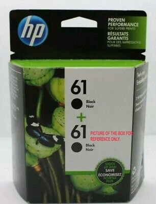 HP 61 Black Ink Twin Pack Cartridge Genuine **SAME DAY SHIPPING** - *Date 2021*