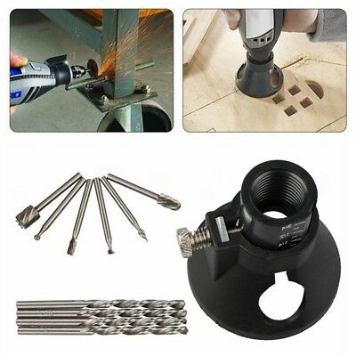 11x Dremel Rotary Multi Tool Cutting Guide Kit HSS Router Drill Bits Well