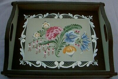 "Beth Vincent tole painting pattern ""Floral Brushstroke Tray"""
