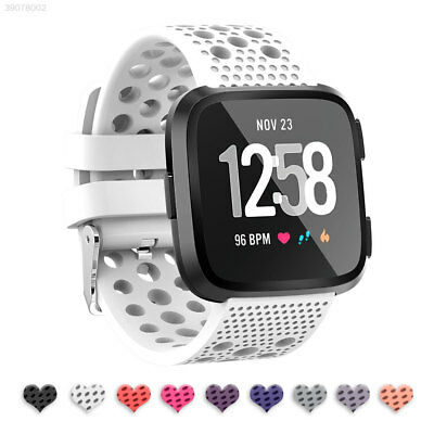 Soft Replacement Bracelet For Fitbit Versa Silicone Sport Hole Watch Band Strap