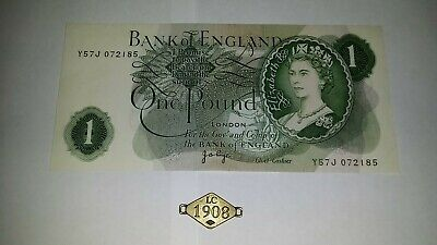 1970s ONE POUND Bank of England £1 1 Pound  Banknote - Page          # 8