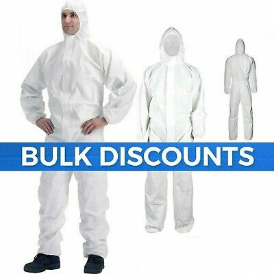 Disposable Coveralls OVERALL Boilersuit Hood Painters Protective Suit xxl size