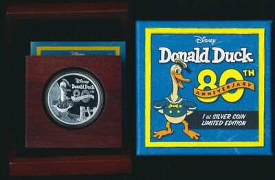 Niue 2014 $1 .999 1oz Silver Proof Donald Duck