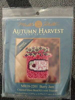 """Autumn Harvest Counted Glass Bead kit. """"Berry Jam"""""""