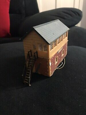Vintage HO Scale Signal Box building Lighted Train Set Scenery