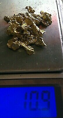 Natural Australian Gold Nuggets High Purity 10.9 grams