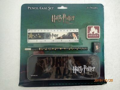 Harry Potter And The Order Of The Phoenix - Pencil Case Set - Mip & Htf!